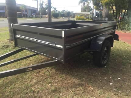 8x5 box trailer $1200 hi side heavy duty 1y peiv rego include