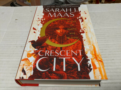 House of Earth and Blood by Sarah J. Maas (2020, Hardcover) SIGNED 1st/1st