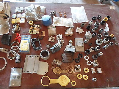 Huge Lot of Electrical Supplies: Fuses, conduit fittings, copper, breaker, more