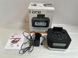 iHome IPL10 FM Radio Alarm Clock Speaker w/ Lightning Dock for iPhone 7.B4