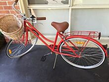 Red Vintage lady bike w basket Ringwood Maroondah Area Preview