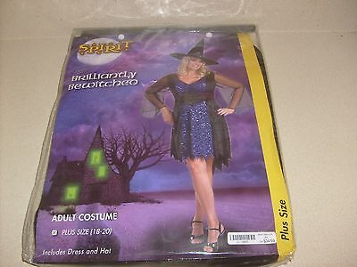 SPIDER WEB GHOST  WITCH ROBE Woman Halloween Women Adult Costume SZ 2-8 S/M NEW ](Spider Woman Halloween Costume)