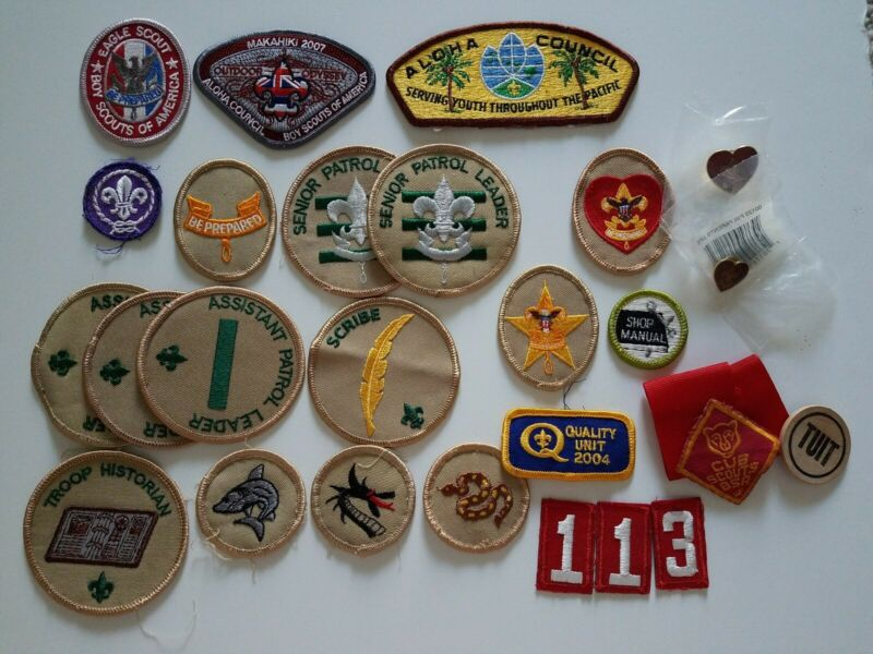 Boy Scouts Patches Pins Eagle Rank Life Hawaii Aloha Council x24++