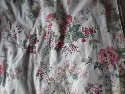 A Long Pair Vintage Handmade Burgundy Lined Curtains Laura Ashley Gainsborough