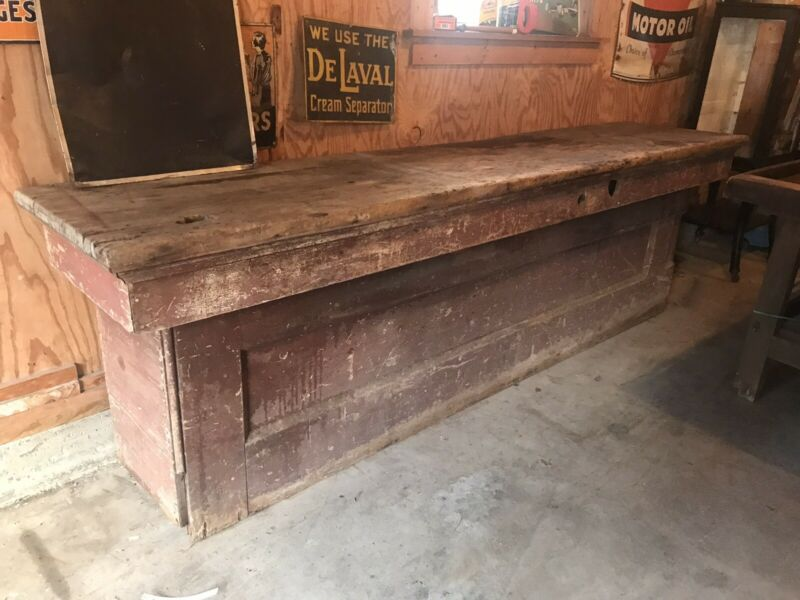 Old Red General Store Country Counter 9 Foot Pine Top