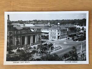 Postcard British East Africa Nairobi Delmere Avenue 1950's Kenya RPPC 4a