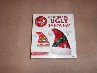 NEW, CHRISTMAS JINGLE MAKE YOUR OWN UGLY SANTA HAT