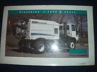 Elgin Pelican Crosswind Street Sweeper Operator Operation Maintenance Manual