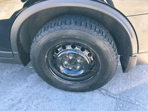 """Winter Tires and Wheels 215/70R16 Nissan Rogue 16"""" Steel Rims"""