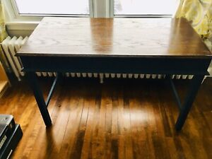 Solid wood desk or plant table