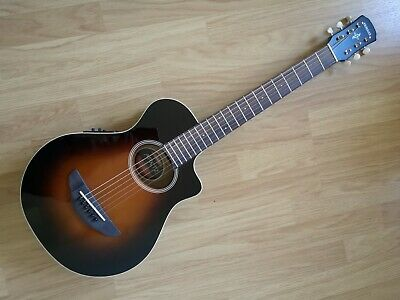 Yamaha APX T2 Short Scale Electro Acoustic Travel Guitar with Gigbag