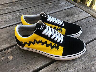 Vans Peanuts Charlie Brown Old Skool Good Grief Sneakers Shoes Mint - Size 8.5