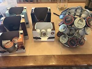 Free keurig cups and rack
