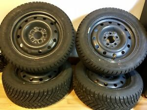 Studded Winter Tires + Steel Wheels