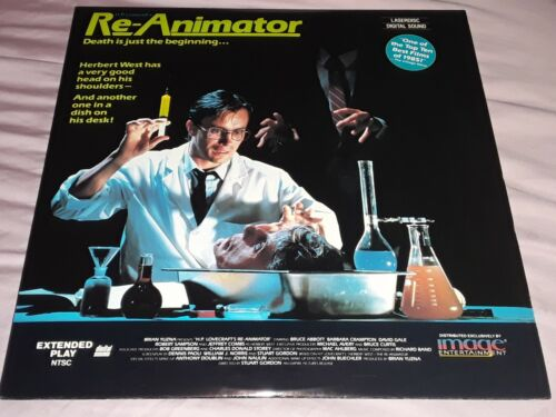 Re-Animator Laserdisc Horror Jeffrey Combs Stuart Gordon Vestron Video Unrated - $18.88