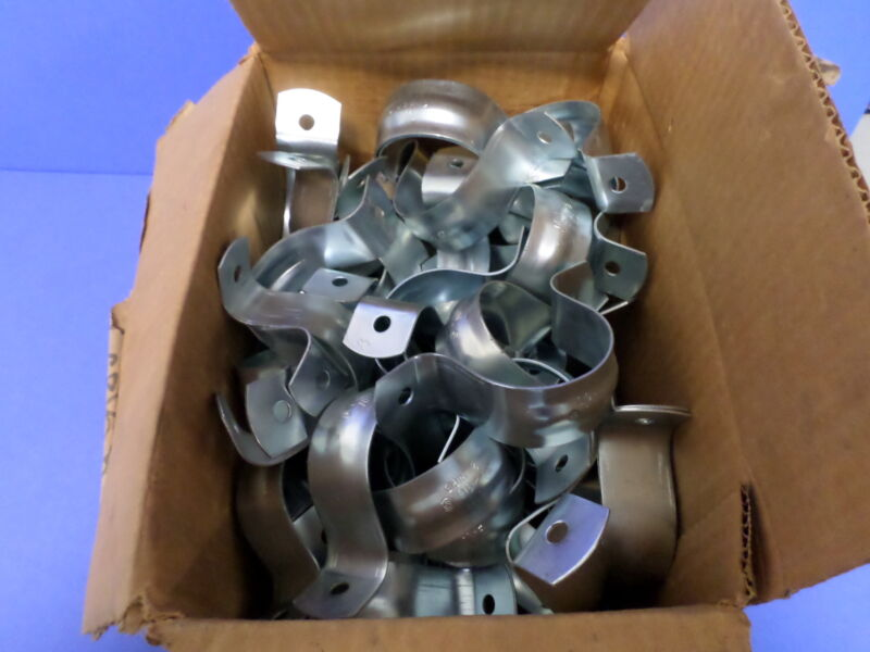 """MINERALLAC 2"""" RIGID 2 HOLE COUNDUIT & PIPE STRAP  290  BOX OF 50"""