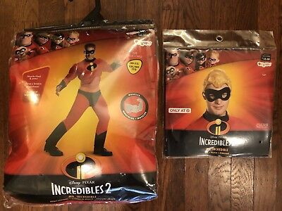 NEW Disney Incredibles Adult Mens Mr Incredible Muscle Chest Costume Wig 2XL XXL - Mr Incredible Costume Xxl