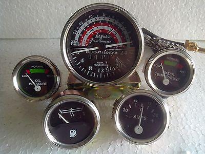 Massey Ferguson Tractor Gauge Kit Tachometer Anti Clockwise-35 133 135 140