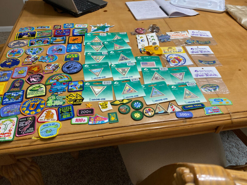 Girl Scout Patches And Pins Huge Lot New And Used