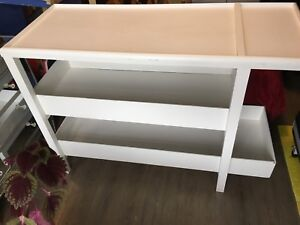 ***Homemade 3 Level White Baby Change Table $20.00***
