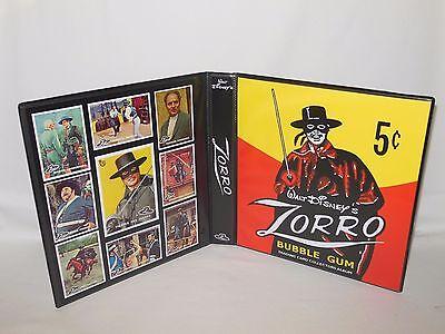 Custom Made Zorro Disney 1958 Trading Card Album Binder Graphics Only](Zorro Custome)