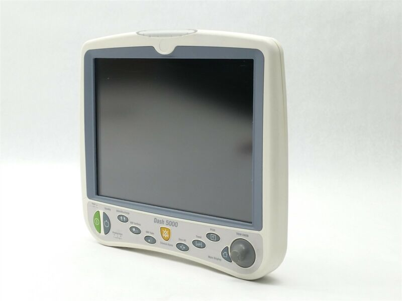 """GE HEALTHCARE GDS DASH 5000 VITAL SIGNS PATIENT 12"""" MONITOR ASSEMBLY 2022758-001"""
