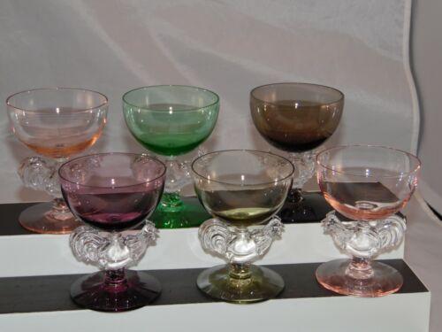 Morgantown Set of 6 Rooster Cocktail Liquor Glasses Vintage Discontinued 1971