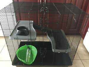 Large cage with house,water bottle,food dish