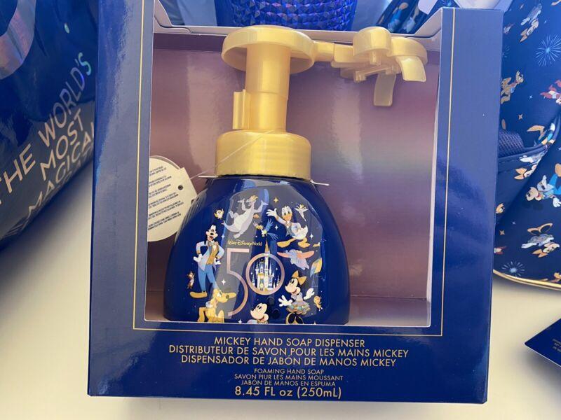 Walt Disney World 50th Anniversary Mickey Soap Dispenser Parks Mickey Mouse