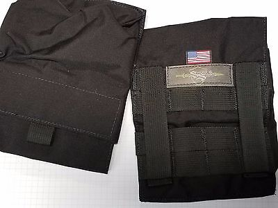 Molle Side Plate Pouches USA made lifetime warranty 6x6, 6x8. BLACK