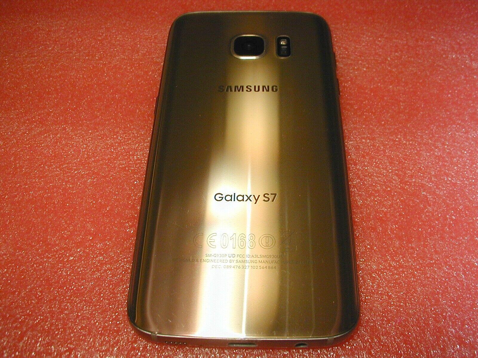 Clean Samsung Galaxy S7 SM-G930 32GB - Gold Platinum Sprint 5.1 Smartphone - $59.99