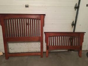 Kids single headboard and bed set with underdrawers