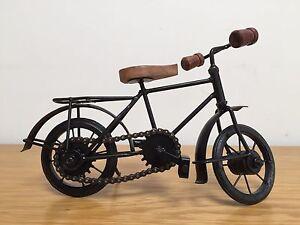 Classic Wooden Metal Miniature Bicycle Model indian Handicraft