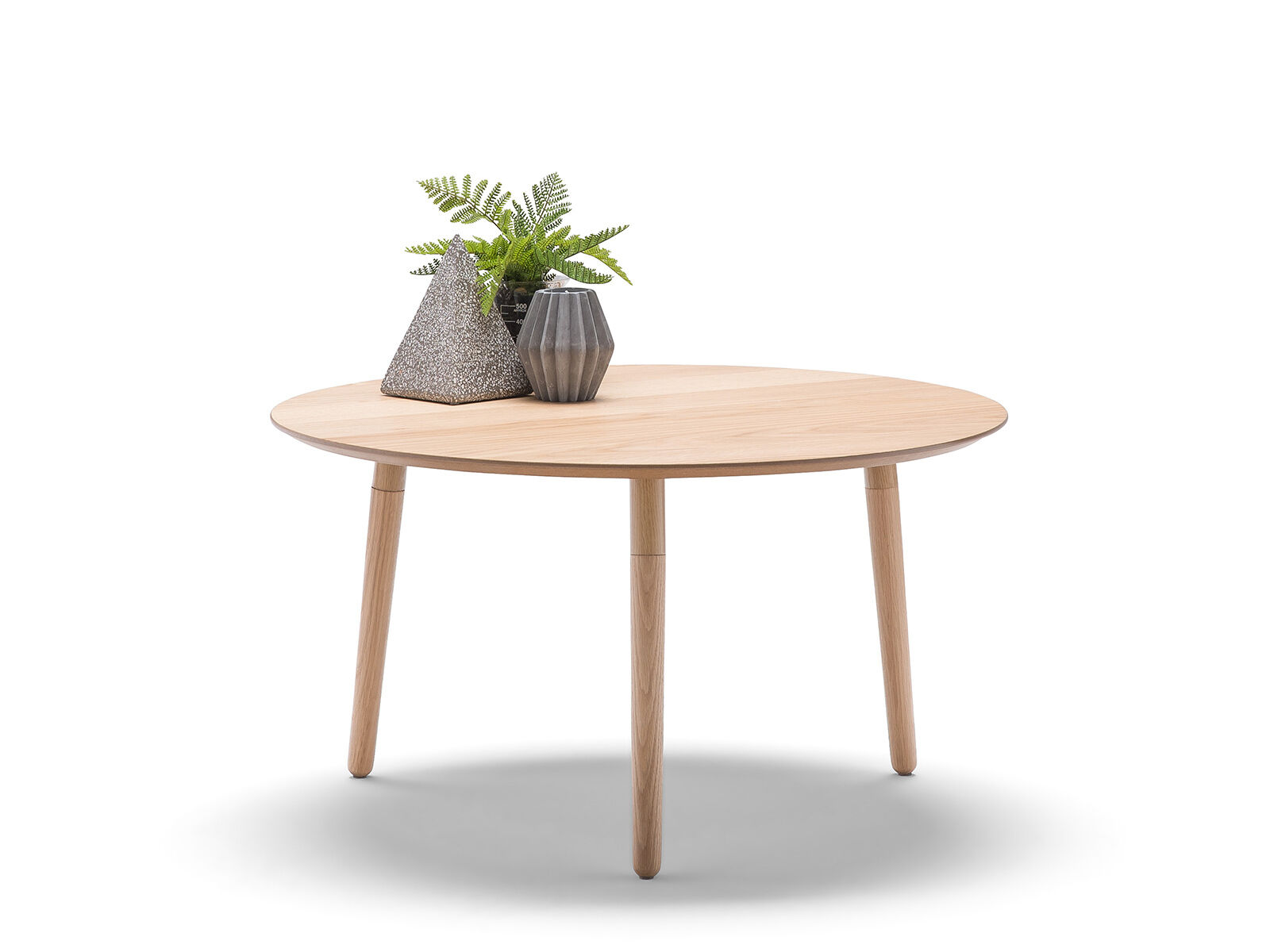 Nochio Scandinavian Nordic Retro Light Oak Timber Round Minimalist