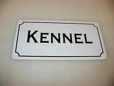 KENNEL Metal Sign 4 Dog House Pet Carrier Training Bed Tv Movie Prop Cosplay