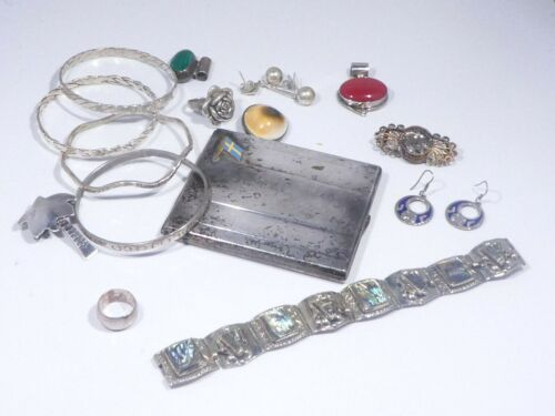 LOT OF MOSTLY STERLING SILVER JEWELRY