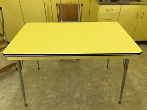 1950's Laminex Kitchen Table with 4 Vinyl Chairs Coorparoo Brisbane South East Preview