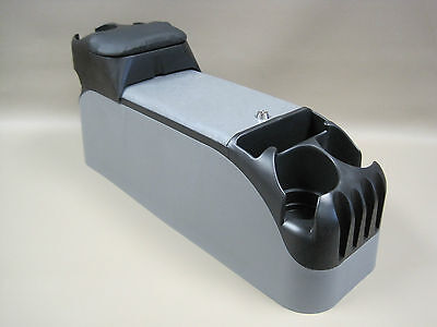 (P71 Gray Center Console Crown Victoria Police With Black Tip Up Armrest )