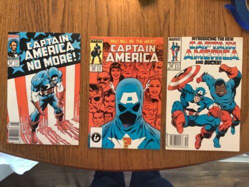 Captain America Comic Lot 332,333,334 1st John Walker Cap Lemar Hoskins Bucky