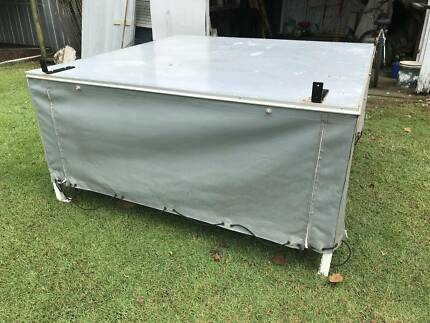 Aluminium Canvas Side Canopy to suit standard Dual Cab Tray