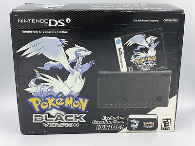 Nintendo DSi Pokemon BLACK Reshiram & Zekrom Sealed System Console Bundle GRAIL
