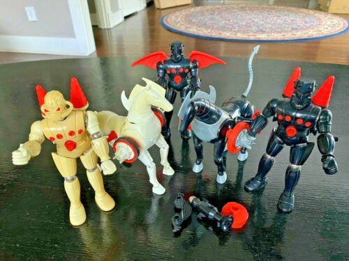 Vintage Mego Micronauts Baron Karza White Force Commander and Stallions Lot