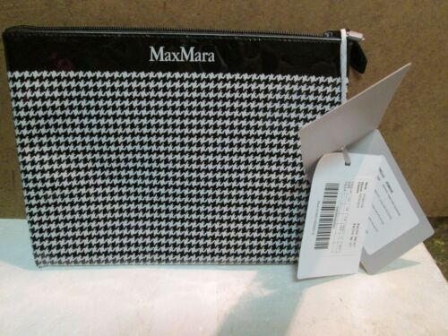 Max Mara Black & White Houndstooth Cosmetic Toiletries/Make up bag/pouch