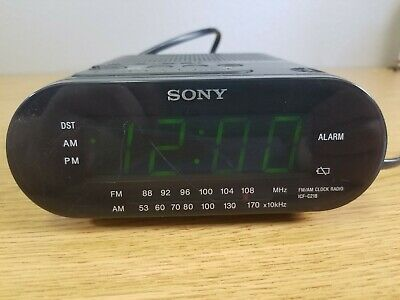 Sony ICF-C218 Dream Machine AM/FM Radio Auto Time Set Alarm Clock Working