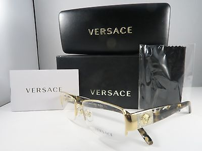 Versace Women's Tortoise/Gold Glasses New Authentic 53mm MOD 1175-B 1002 (1002 Glasses)