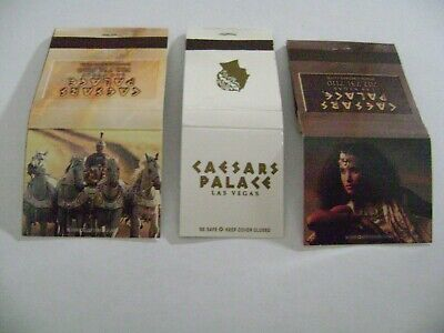 "Lot of 3 Different Match Books, ""Caesar's Palace Casino, Las Vegas, complete."