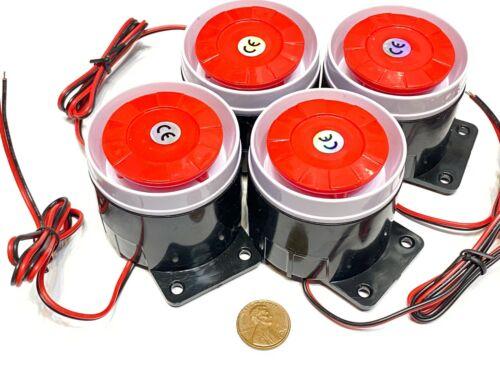4 x  Continuous Sound Decibel Piezo Buzzer IC Alarm DC 12V 120db Black Red A12