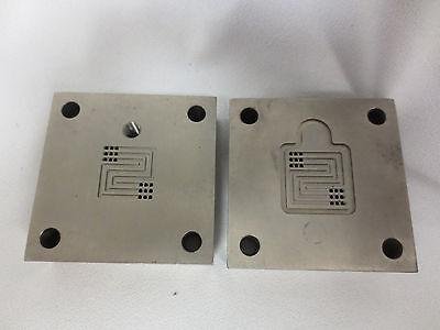 5cm2 Titanium Single Cell Fuel Cell Test Fixture Serpentine Flow Pattern. Set 7