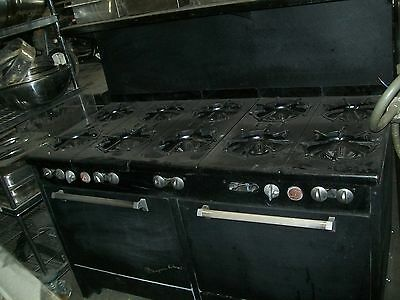 Stoveovens Combo. Nat.gas 10 Burners 2 Ovens On The Bottom 900 More Items