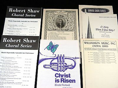 7 Vocal Choral Sheet Music Christmas Easter Sacred Secular 2-4 Part S. A. T. B.
